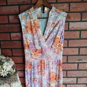 Vintage 1990s Handmade Floral Maxi Dress